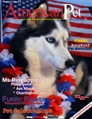 Pet Memorials - American Pet Magazine = AmericanPetMagazine.com