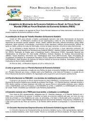 A trajetória do Movimento da Economia Solidária no Brasil ... - ITCP