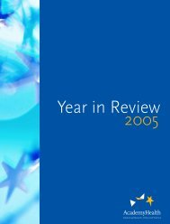AcademyHealth 2005 Year in Review