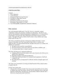 UKMT's child protection policy (PDF) - United Kingdom Mathematics ...