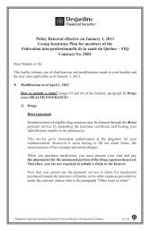 Policy Renewal effective on January 1, 2013 Group Insurance ... - FiQ