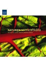 Naturen som kraftkälla ISBN 620-8252-3 - Naturvårdsverket