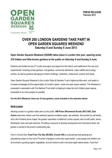 over 200 london gardens take part in open garden squares weekend