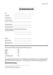 Praktikumsbericht - Friedrich-List-Berufskolleg