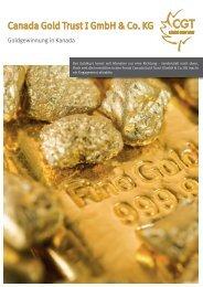 Canada Gold Trust I GmbH & Co. KG - AVL Finanzdienstleistung ...