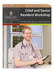 Chief and Senior Resident Workshop