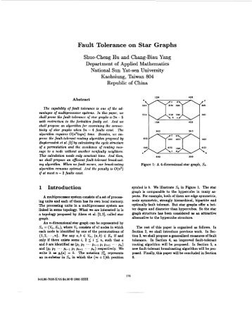 Fault tolerance on star graphs - Parallel Algorithms ... - IEEE Xplore