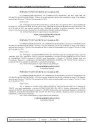 portarias das coordenações regionais publicado em 04.08.11 - Funai