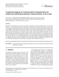 A practical analysis of communication characteristics for mobile and ...