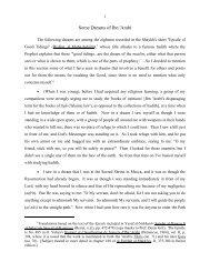 Some Dreams of Ibn 'Arabî (pdf) - Muhyiddin Ibn Arabi Society