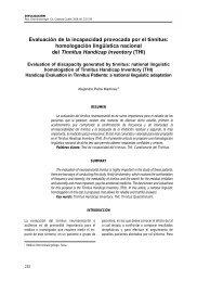 homologación lingüística nacional del Tinnitus Handicap Inventory