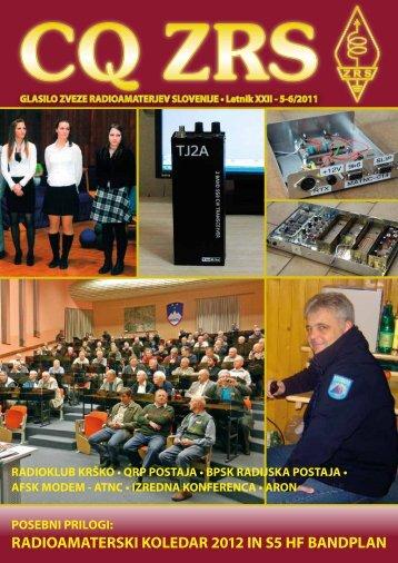 RADIOAMATERSKI KOLEDAR 2012 IN S5 HF BANDPLAN - Zveza ...