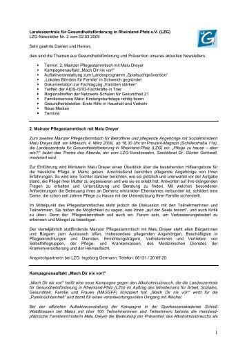 Termine - Landeszentrale für Gesundheitsförderung in Rheinland ...