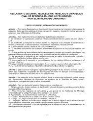Reglamento de Limpia, Recolección, Traslado y Disposición Final ...