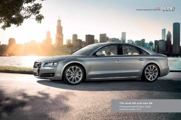 The Audi A8 and new S8 Pricing and Specification Guide