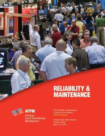 reliability & maintenance - NPRA - American Fuel & Petrochemical ...
