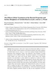 The Effects of Heat Treatment on the Physical Properties and ...