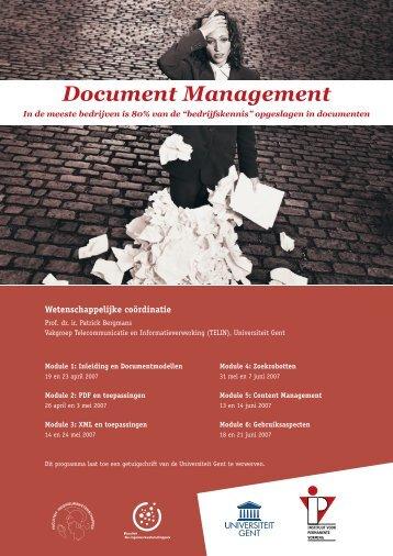Document Management - Instituut voor Permanente Vorming