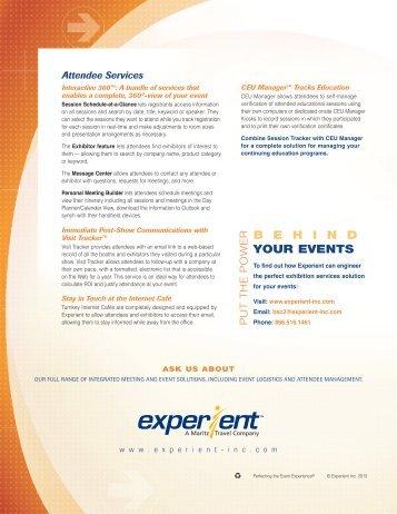 Exhibition Services - Experient