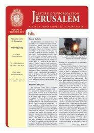 Décembre 2012 - Patriarcat latin de Jérusalem