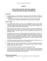 Annex 6 SCOTLAND'S CASTLES, PALACES ... - Andy Wightman