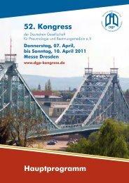 Übersicht Freitag 08. April 2011 - dgp-kongress.de