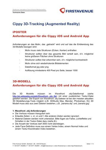 Cippy 3D-Tracking (Augmented Reality) - Firstavenue