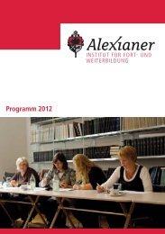 Programm 2012 - Alexianer Krankenhaus GmbH