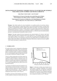 oscilaciones de tensiones y rigidez inicial en elementos de interfaz ...