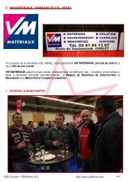 5. VM MATERIAUX : PARRAIN DE CB / ASVEL - Cholet Basket