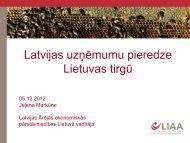 Latvijas uzņēmumu pieredze Lietuvas tirgū
