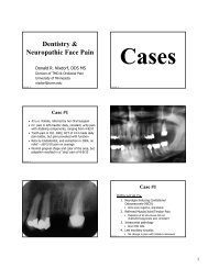 Dentistry & Neuropathic Face Pain