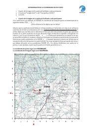 instrucciones para designar coordenadas