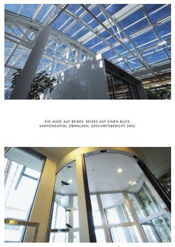 Geschäftsbericht: pdf-Dokument (2MB) - Kantonsspital Obwalden