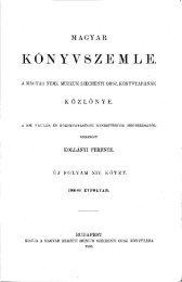 Magyar Könyvszemle Új folyam XIV.kötet, 1. füzet 1906. Január ...