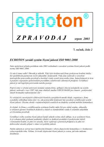 Z P R A V O D A J srpen 2003 - ECHOTON as