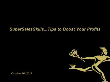 Tips to Boost Your Profits - Sales Skills - Presentation