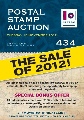 Postal stamP auction - Mowbray Collectables