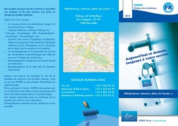 Brochure sur les travaux de rénovations effectués à la ... - Chirec