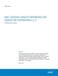 EMC Centera Capacity Reporting for Gen4LP on CentraStar 4.2.2