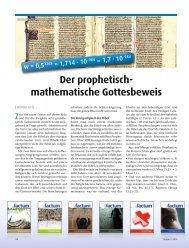 Der prophetisch- mathematische Gottesbeweis