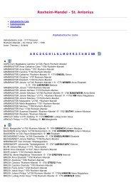 ABC-Listen zum Familienbuch rk. Roxheim- Mandel - St ... - WGfF