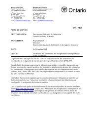 SB25: Déclaration des affectations des enseignantes et enseignants ...
