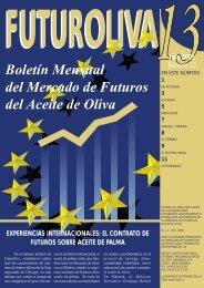 Boletín Mensual del Mercado de Futuros del Aceite de Oliva