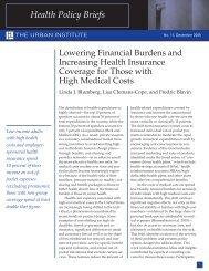 Lowering Financial Burdens & Increasing Health ... - Urban Institute