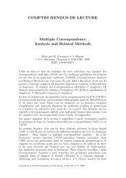 COMPTES RENDUS DE LECTURE Multiple Correspondence ...