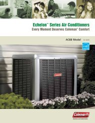 Echelon Series Air Conditioners - Coleman