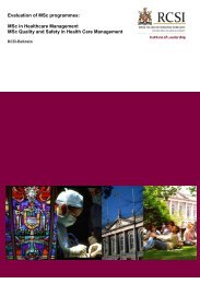 Evaluation of MSc programmes: MSc in Healthcare Management ...