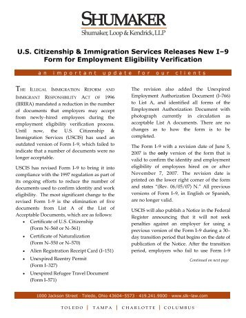 Instructions For Employment Eligibility Verification Uscis ...