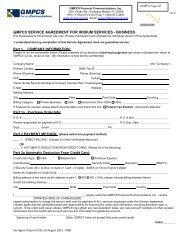 gmpcs service agreement for iridium services - business